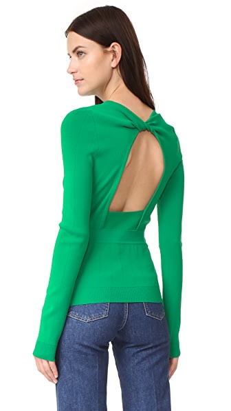 Rochas Long Sleeve Sweater - Bright Green