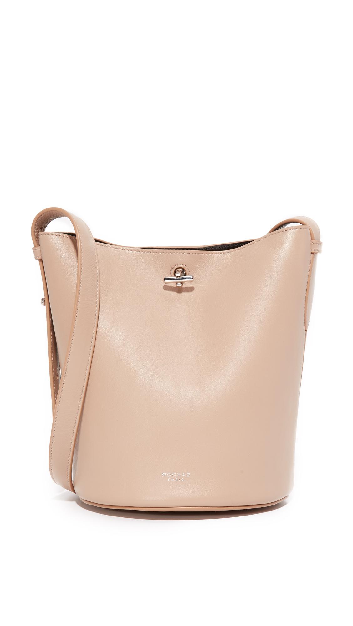 rochas female rochas bucket bag light beige