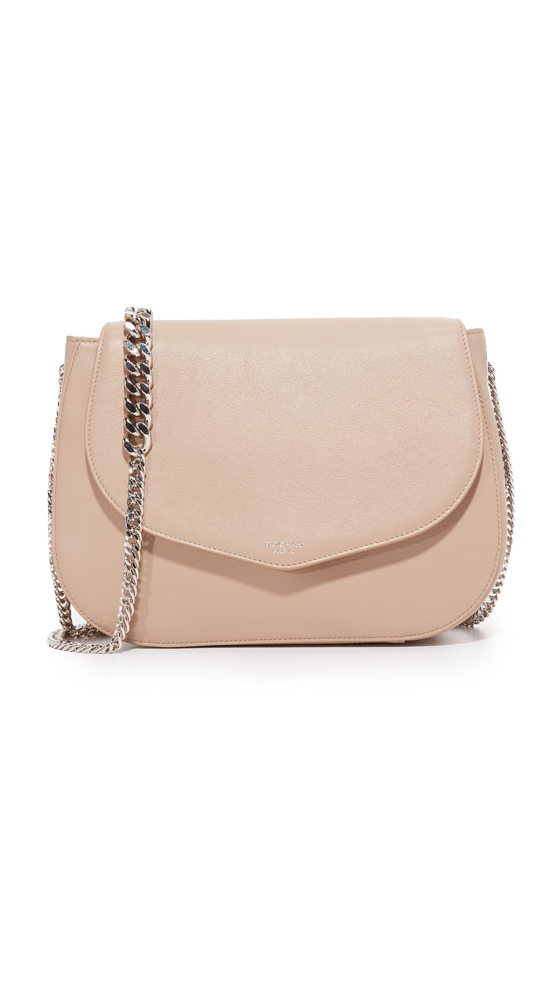 rochas female rochas shoulder bag light beige