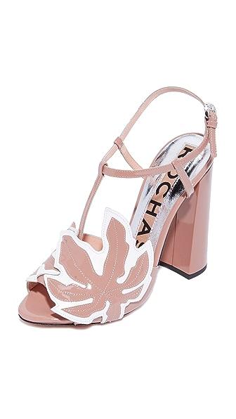 Rochas Block Heel Sandals - Pink