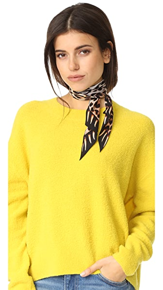 Rockins Leopard s Teeth Super Skinny Scarf - Gold
