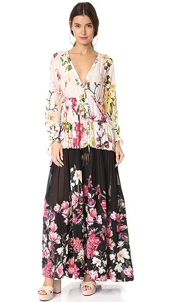 ROCOCO SAND Amour Dress In Cream & Coral