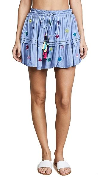 ROCOCO SAND Stellar Short Skirt In Blue