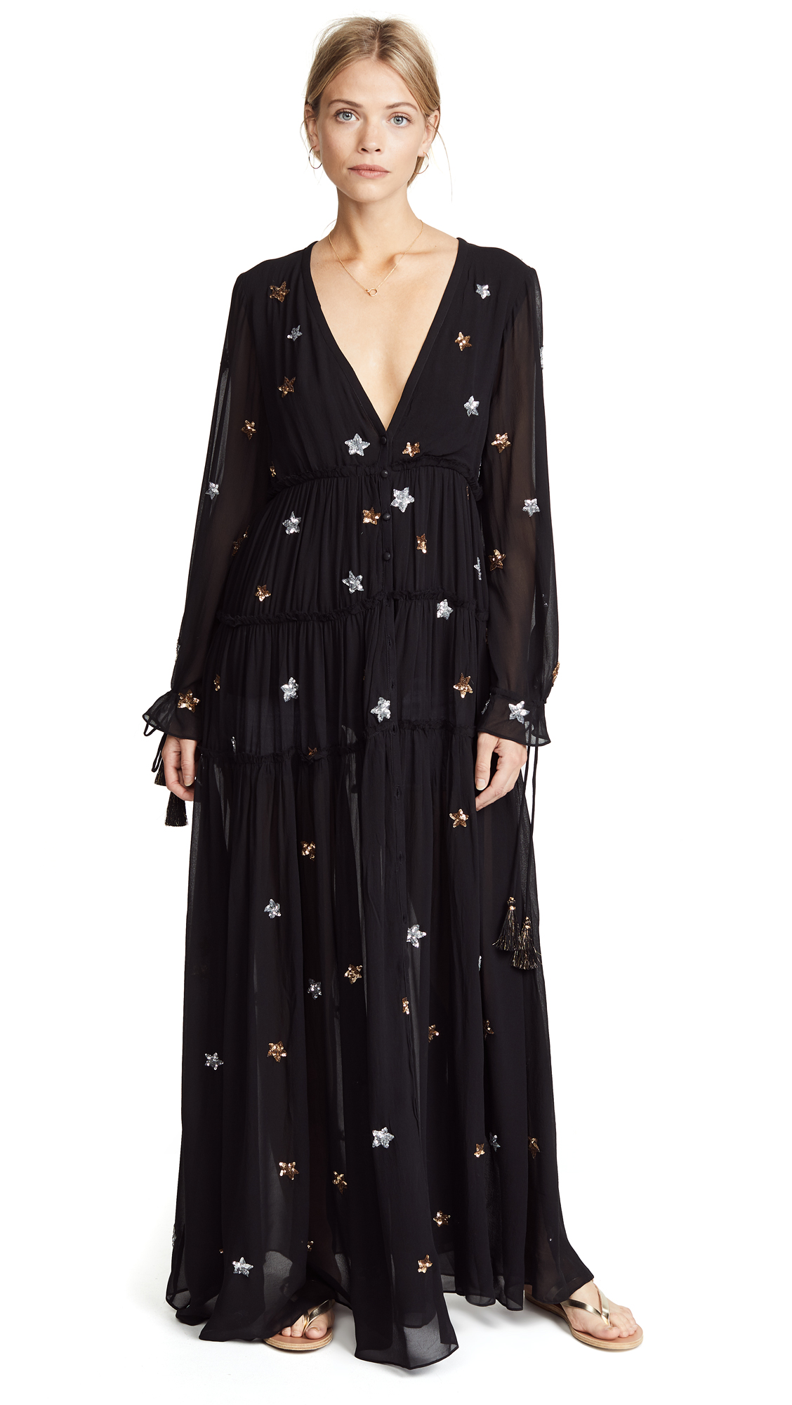Astral Long Dress, Black