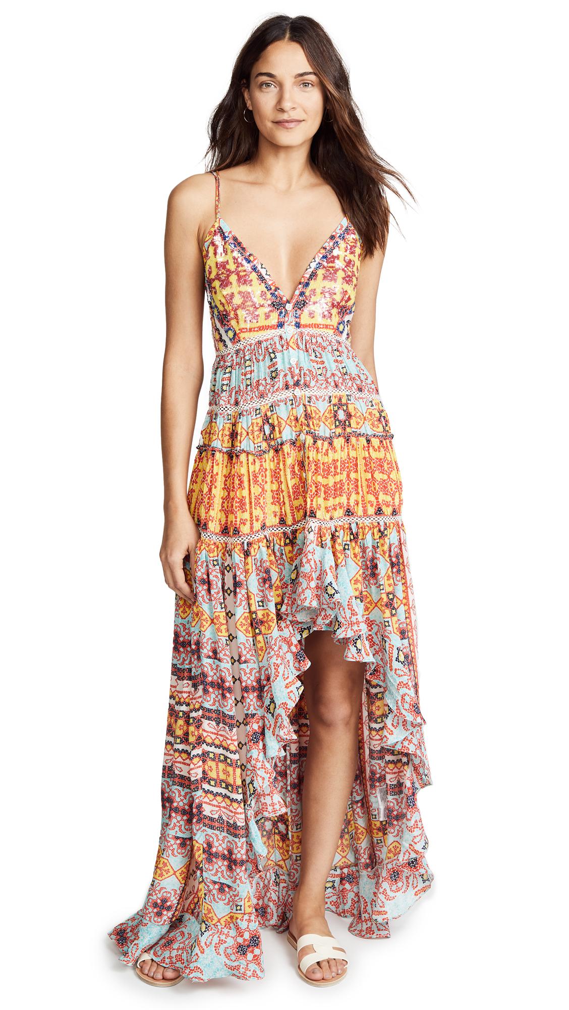 Rococo Sand TESSELATE LONG DRESS