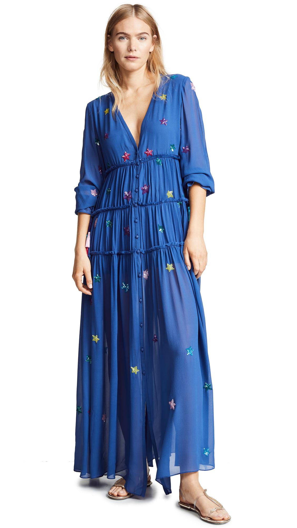 ROCOCO SAND Stellar Long Dress in Navy