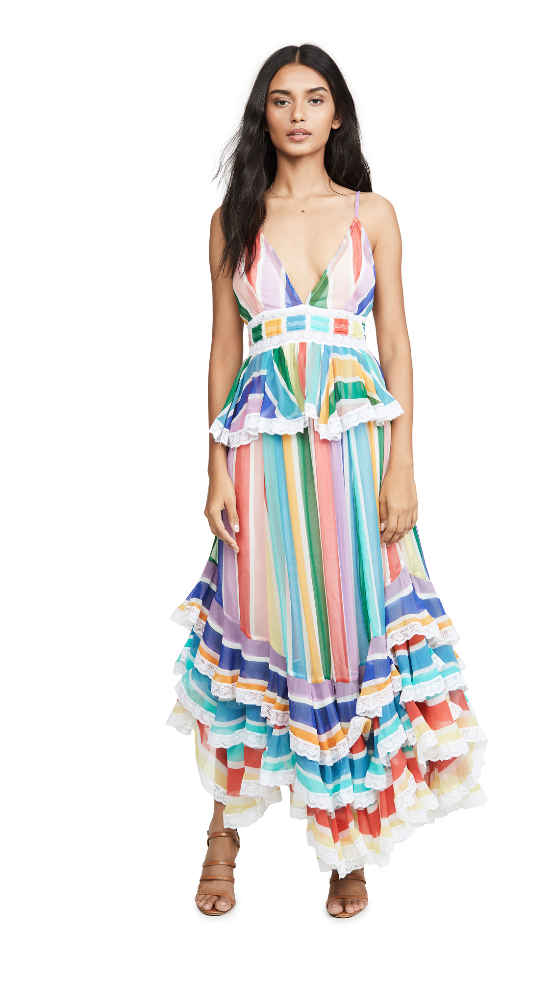 Buy ROCOCO SAND online - photo of ROCOCO SAND Rainbow Long Dress