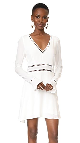 Roe + May Shiloh Mini Dress - Blanc Crepe