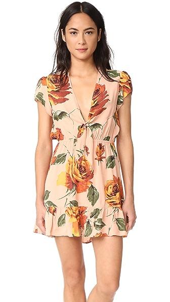 Roe + May Saz Mini Dress - Sunset Floral