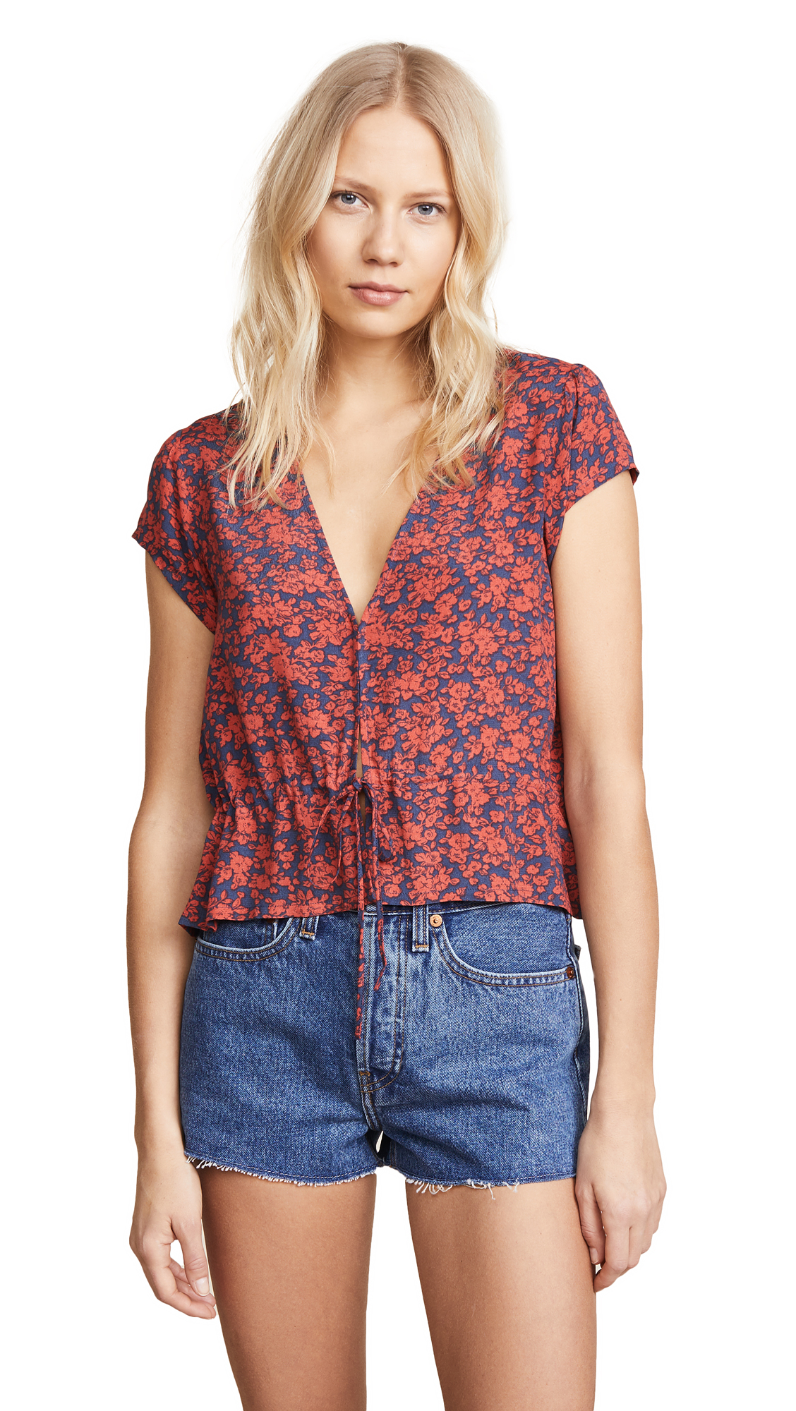 Rolla's Lula Blouse In Navy Blossom