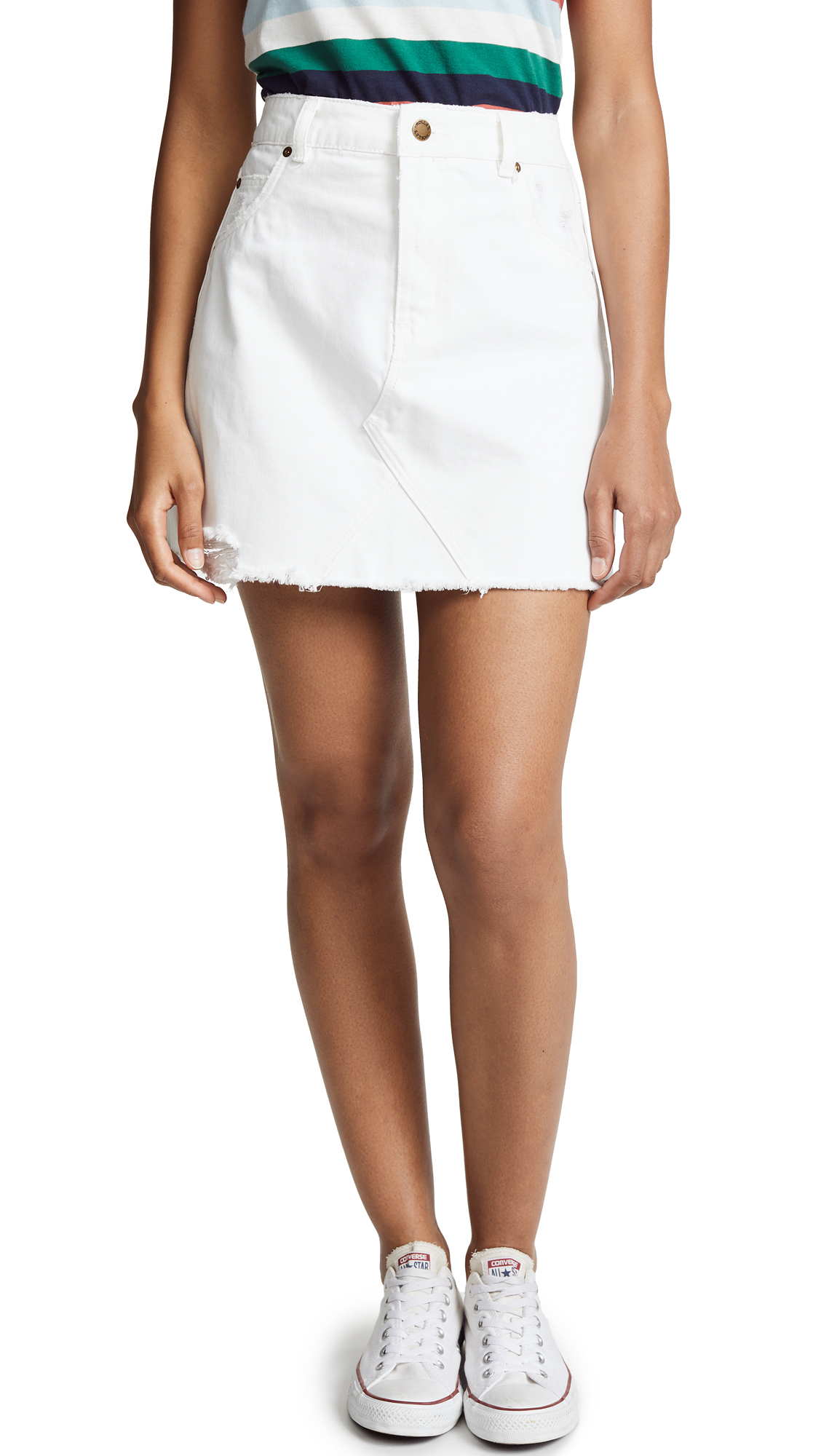 Rolla's Claudia Skirt In White Real Worn