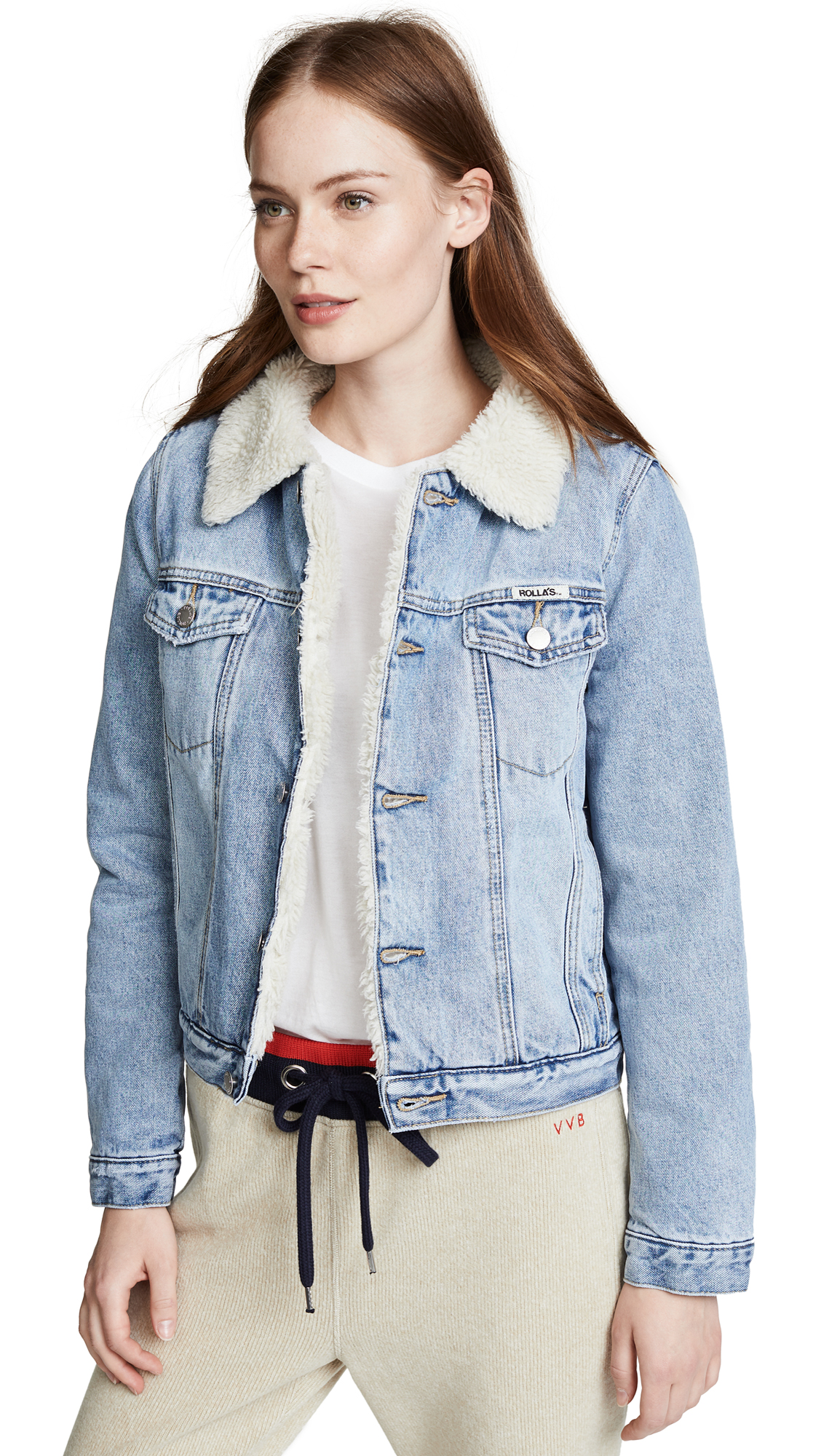 Rolla's Sherpa Jacket In Stella Blue