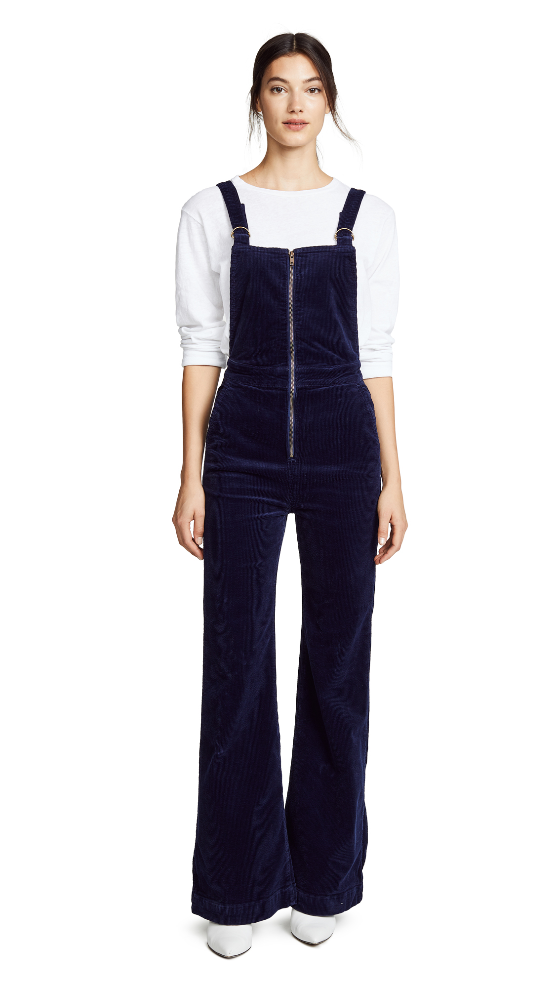 Rolla's East Coast Flare Overalls In Midnight Cord