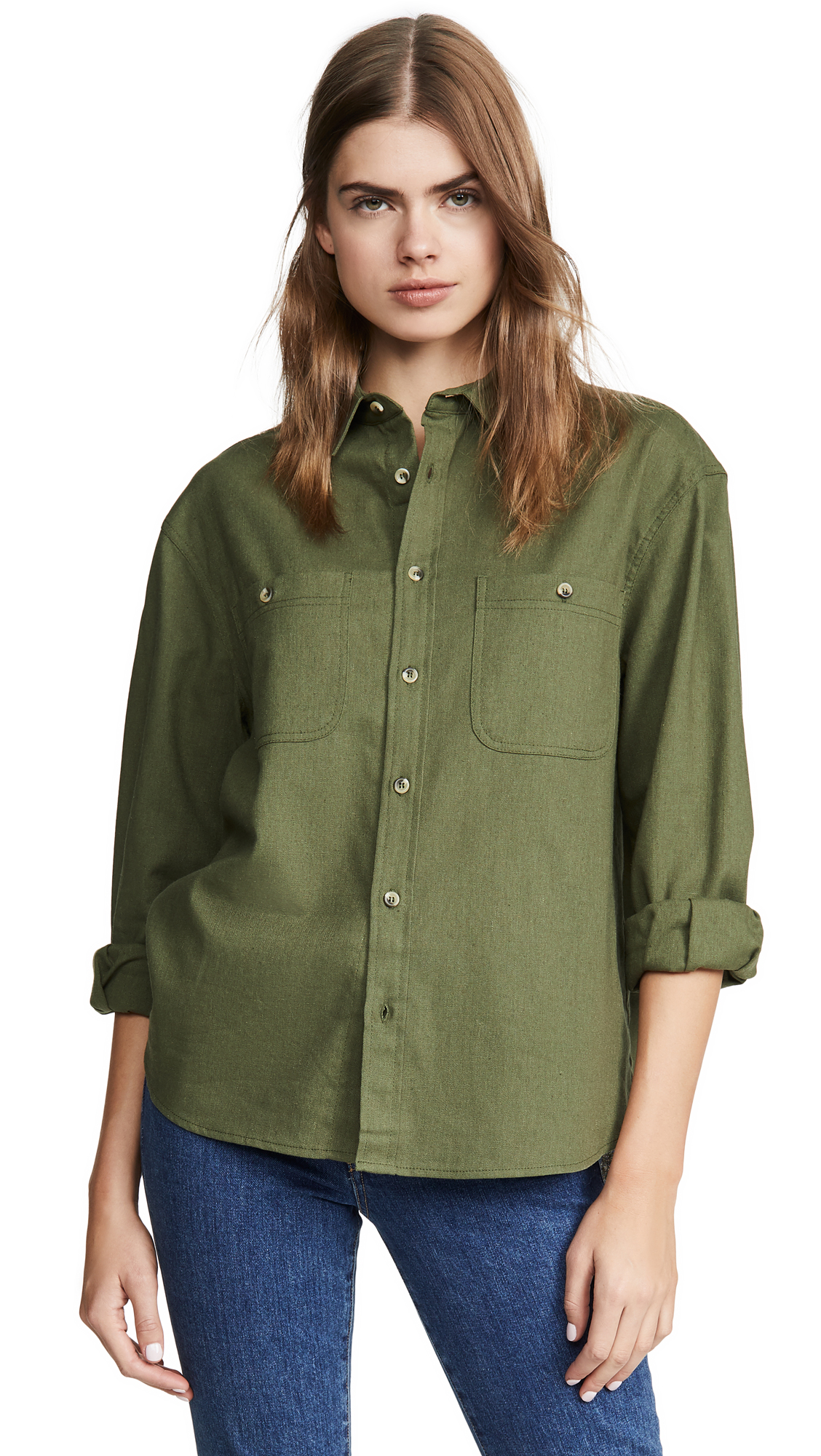 Buy Rolla's online - photo of Rolla's Utility Linen Shirt