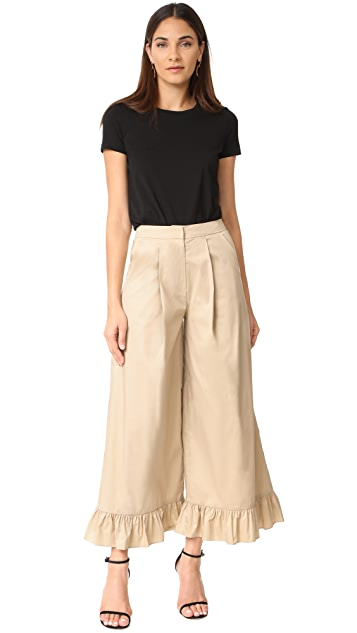 Romanchic Bottom Ruffle Pants