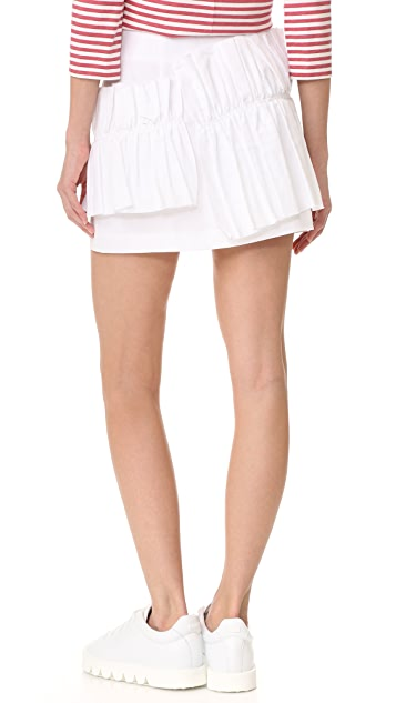 Romanchic Big Ruffle Miniskirt