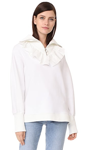 Romanchic Zipper Top - White