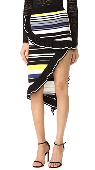 Ronny Kobo Juno Knit Skirt - Multi Stripe
