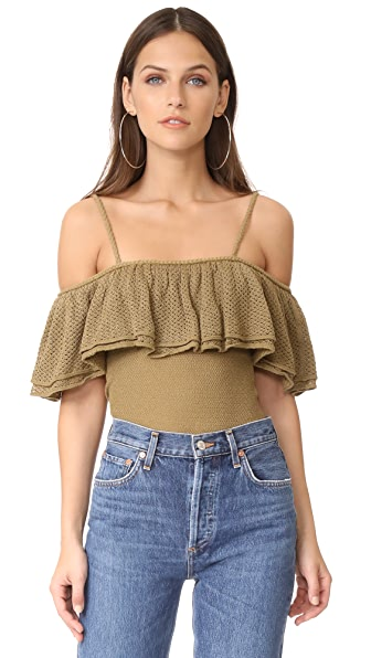 Ronny Kobo Maya Top In Fennel