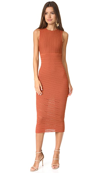 Ronny Kobo Jordyn Dress - Burnt Orange