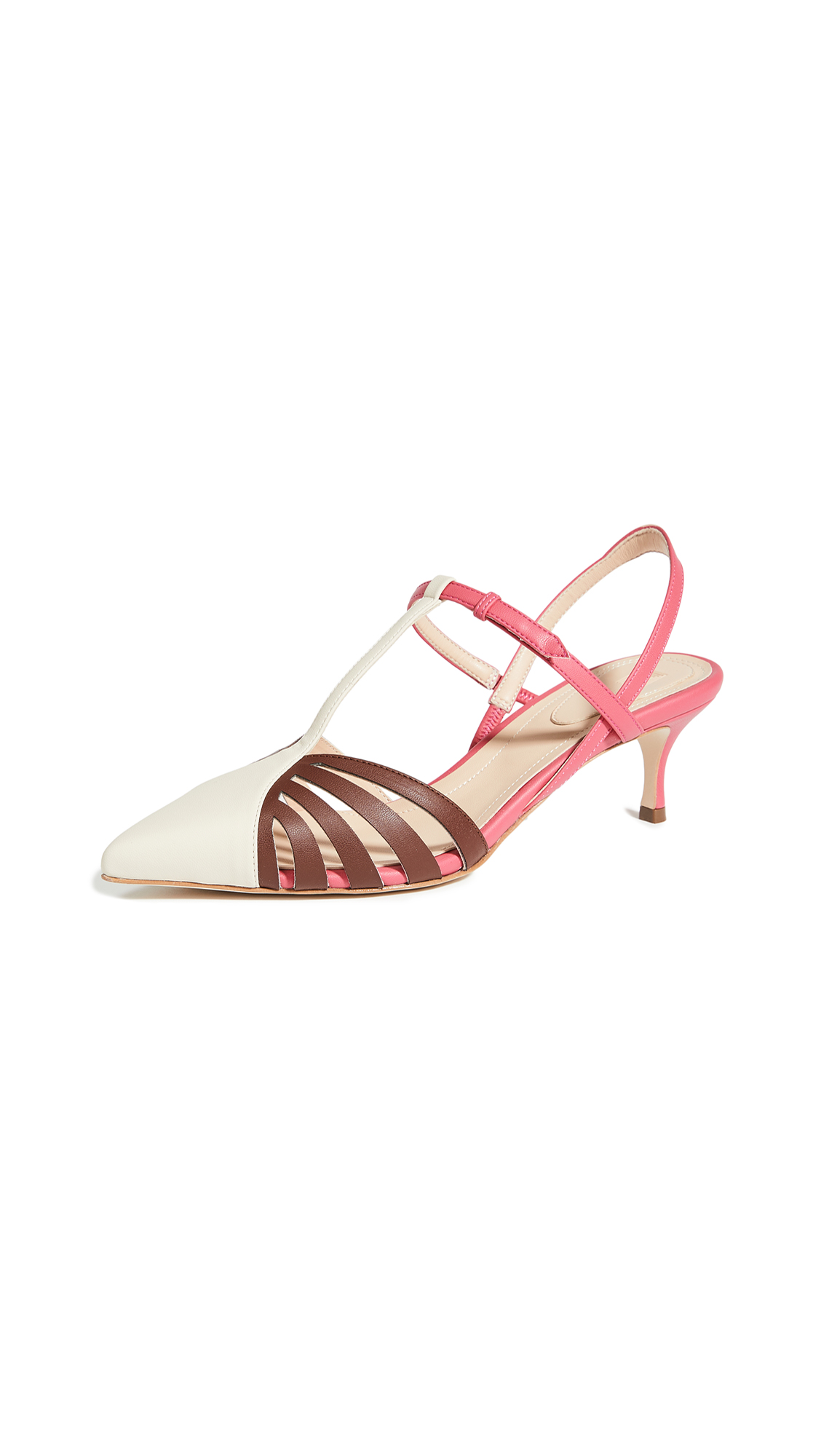 Rosie Assoulin Charisse Slingback Lattice Heels - 40% Off Sale