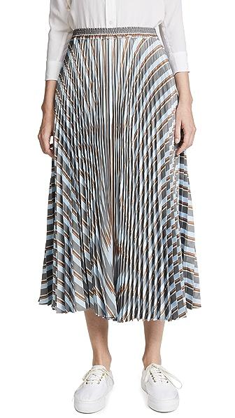 Rossella Jardini Striped Midi Skirt In Stripes