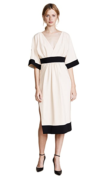 Rossella Jardini Contrast Dress In White/Black