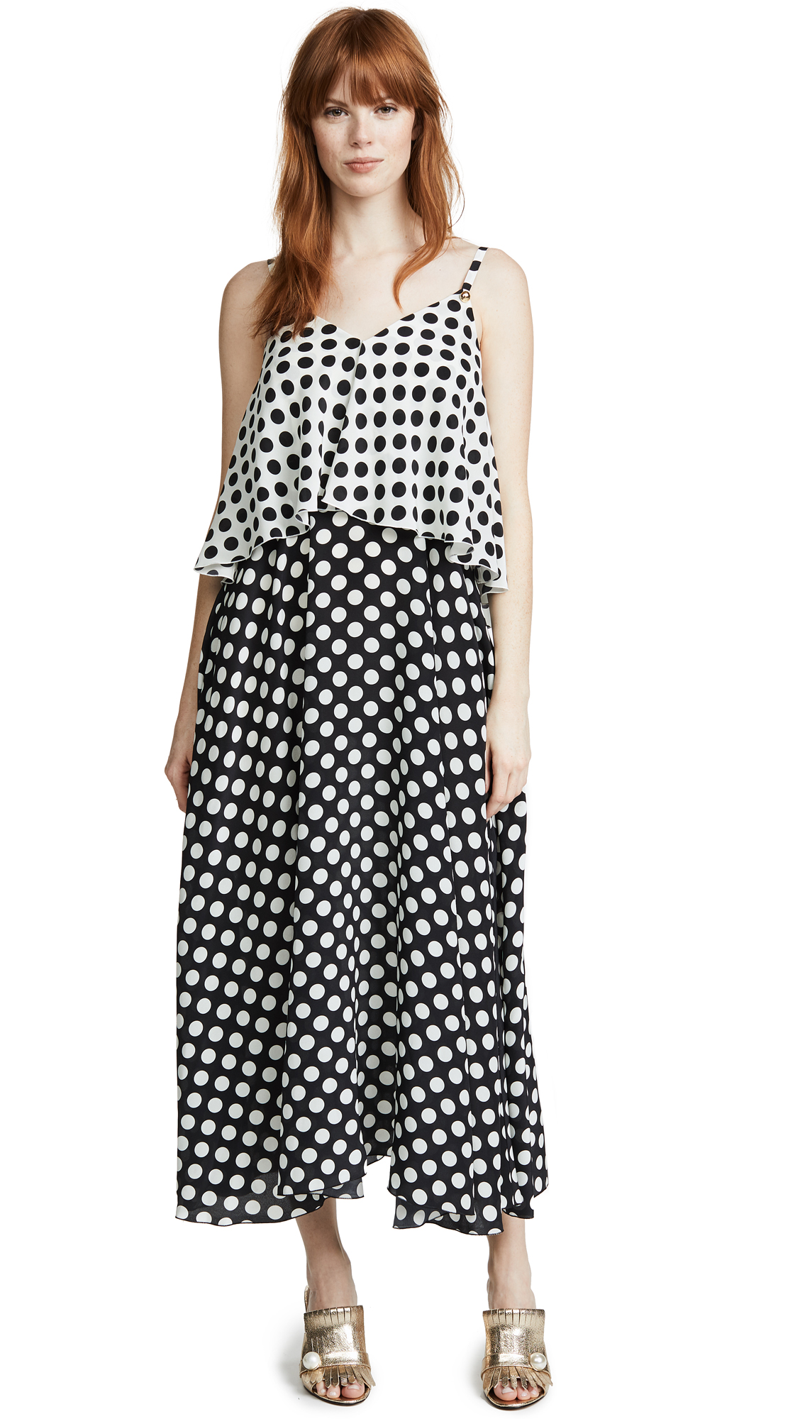 ROSSELLA JARDINI V NECK TIERED DRESS