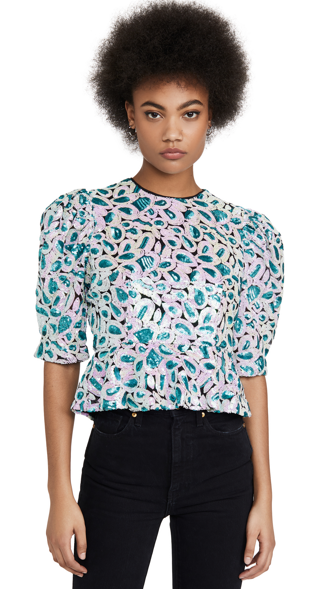 Buy ROTATE online - photo of ROTATE Christina Sequin Top