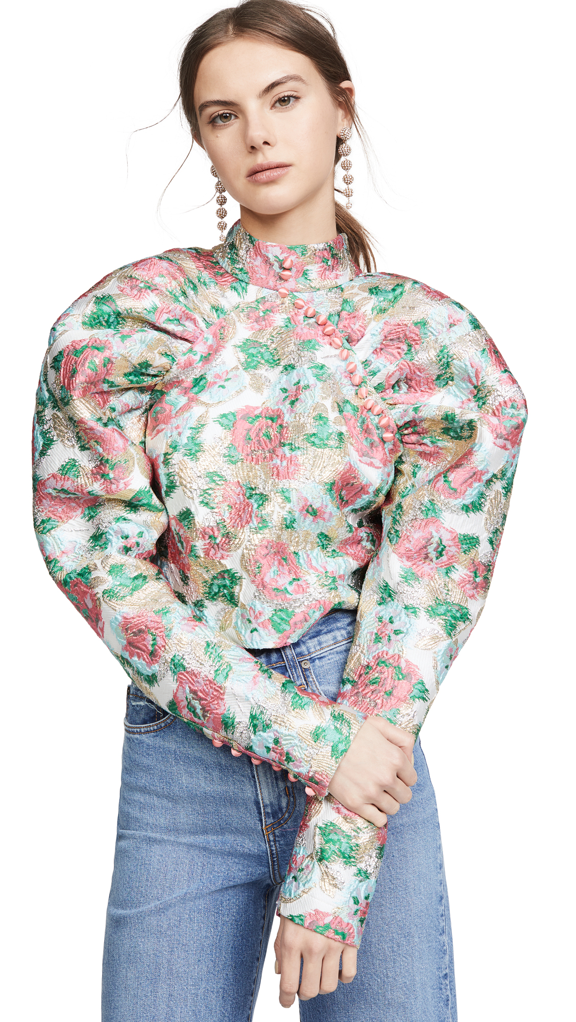 Buy ROTATE online - photo of ROTATE Jacquard Kim Top