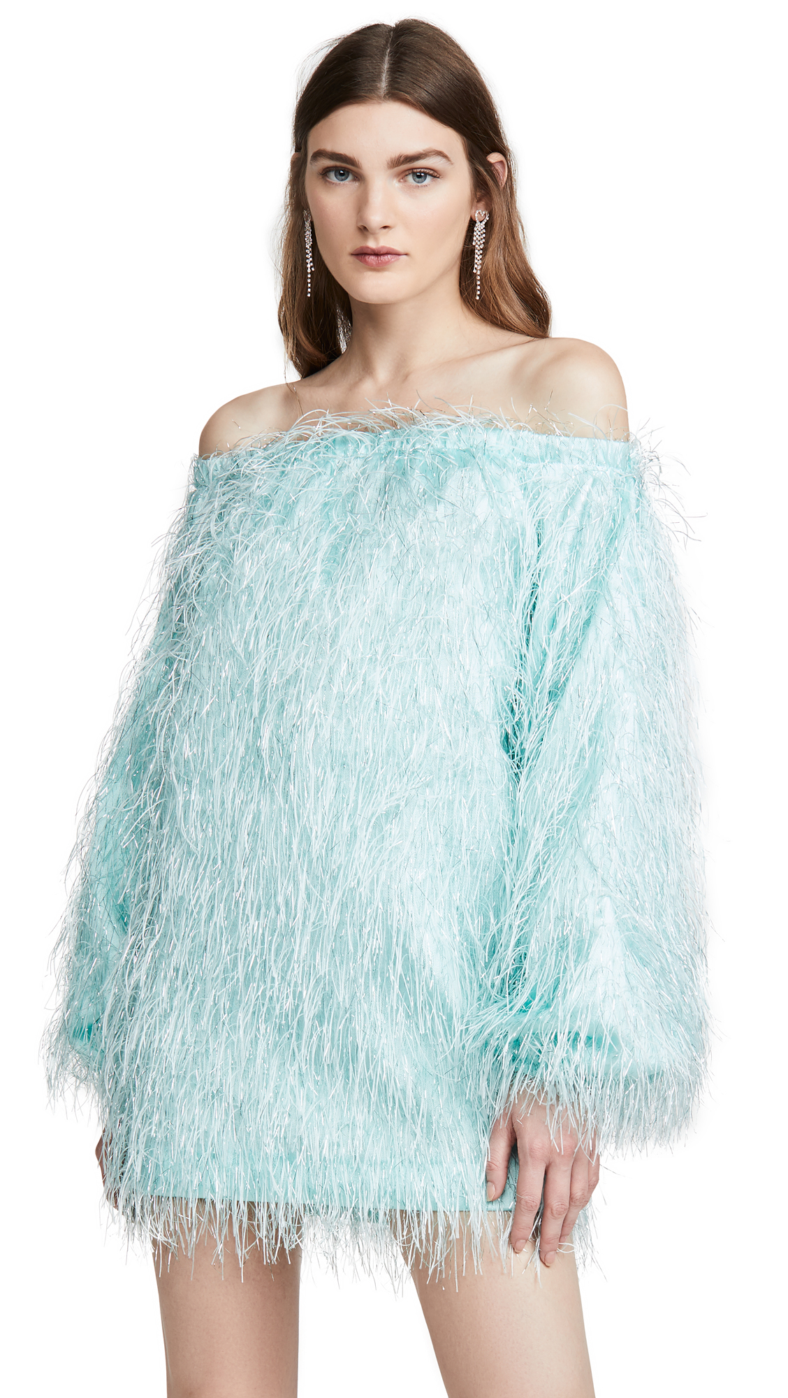 Buy ROTATE online - photo of ROTATE Gloria Feather Dress