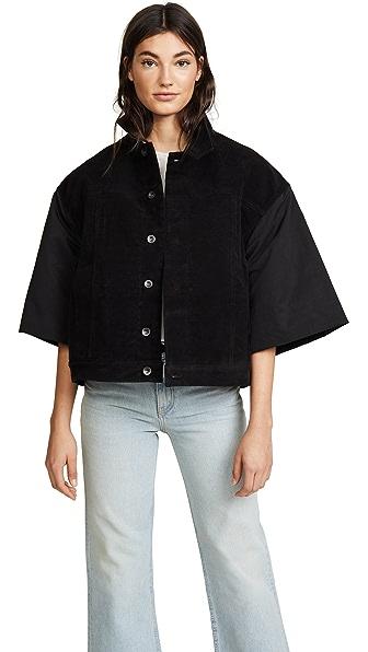 Rick Owens DRKSHDW Jumbo Worker Short Sleeve Jacket In Black