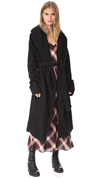 Rick Owens DRKSHDW Fleece Robe - Black