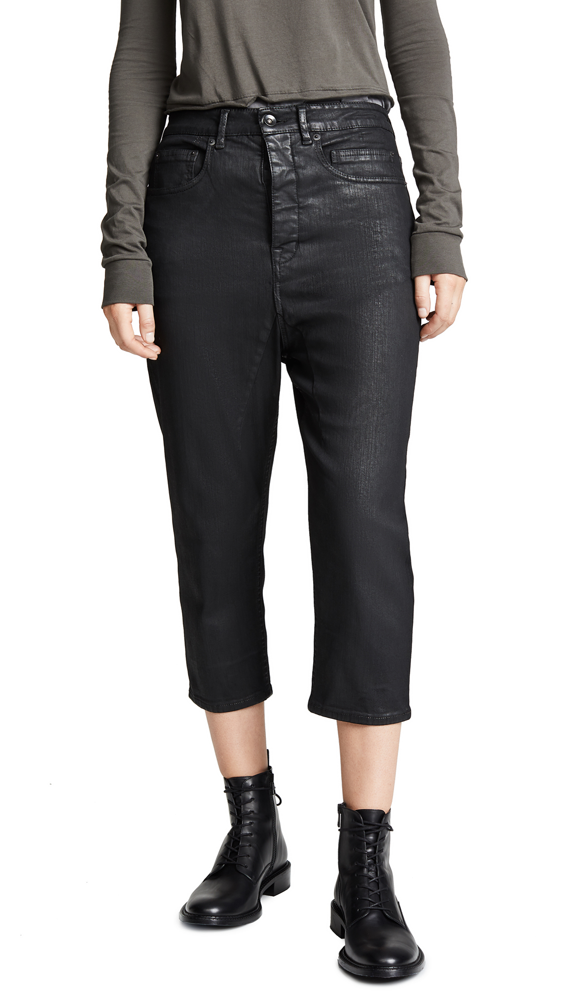 Rick Owens DRKSHDW Collapse Cut Jeans In Black