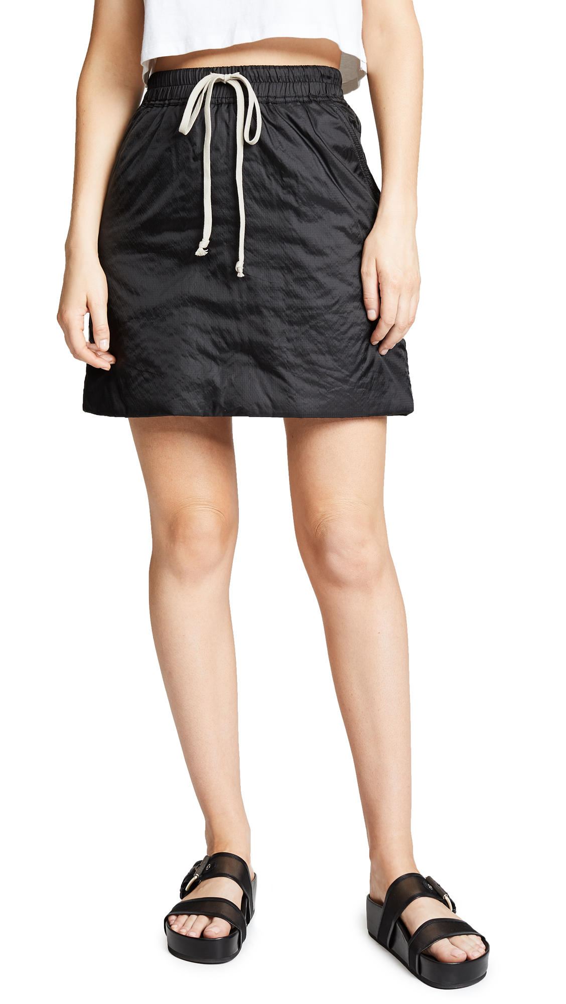Rick Owens DRKSHDW Drawstring Skirt In Black