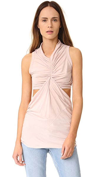 Rick Owens Lilies Sleeveless Cutout Top In Rose