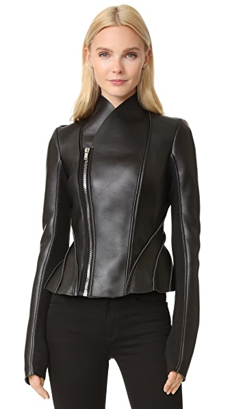 Rick Owens Lilies Leather Jacket - Black