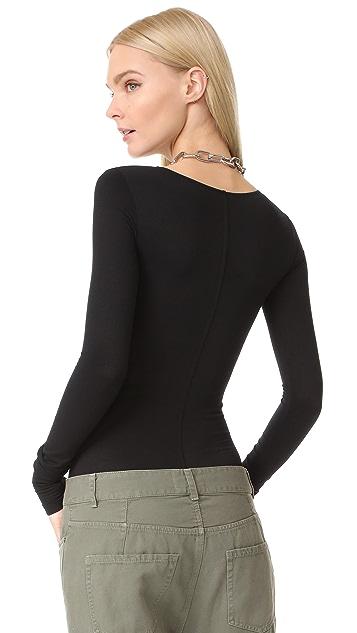 Rick Owens Lilies Long Sleeve Bodysuit