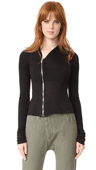 Rick Owens Lilies Zip Up Jacket