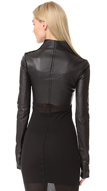 Rick Owens Lilies Cropped Leather Jacket