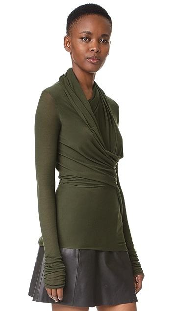 Rick Owens Lilies Long Sleeve Wrap Top