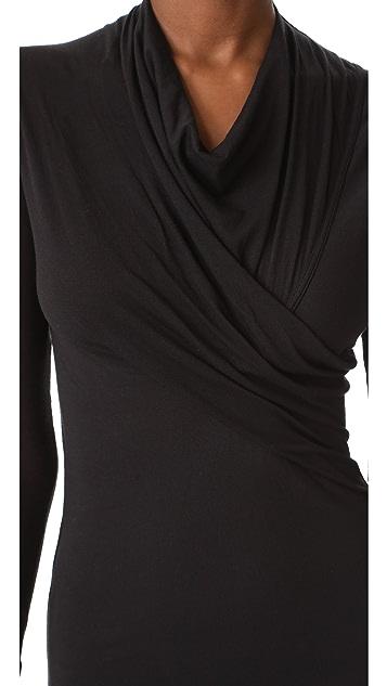 Rick Owens Lilies Long Sleeve Wrap Dress