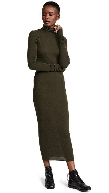 Rick Owens Lilies Long Sleeve Turtleneck Dress