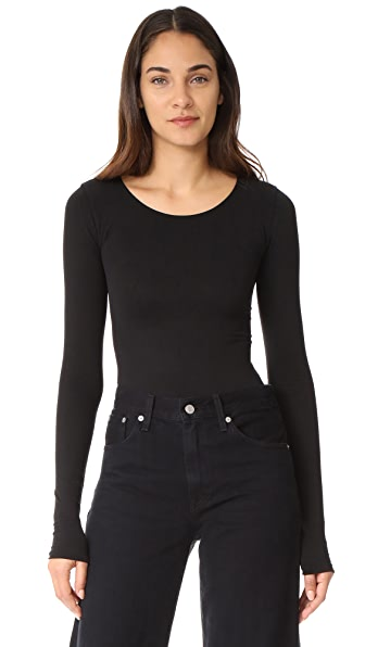 Rick Owens Lilies Long Sleeve Bodysuit - Black