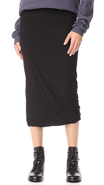 Rick Owens Lilies Midi Skirt In Black