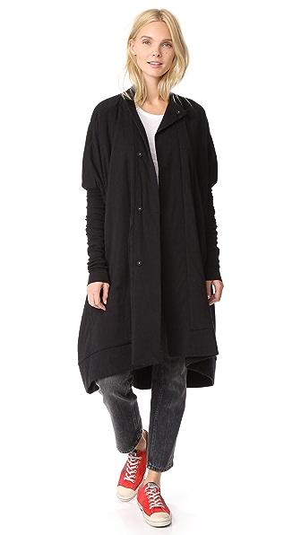 Rick Owens Lilies Long Sleeve Jacket In Black