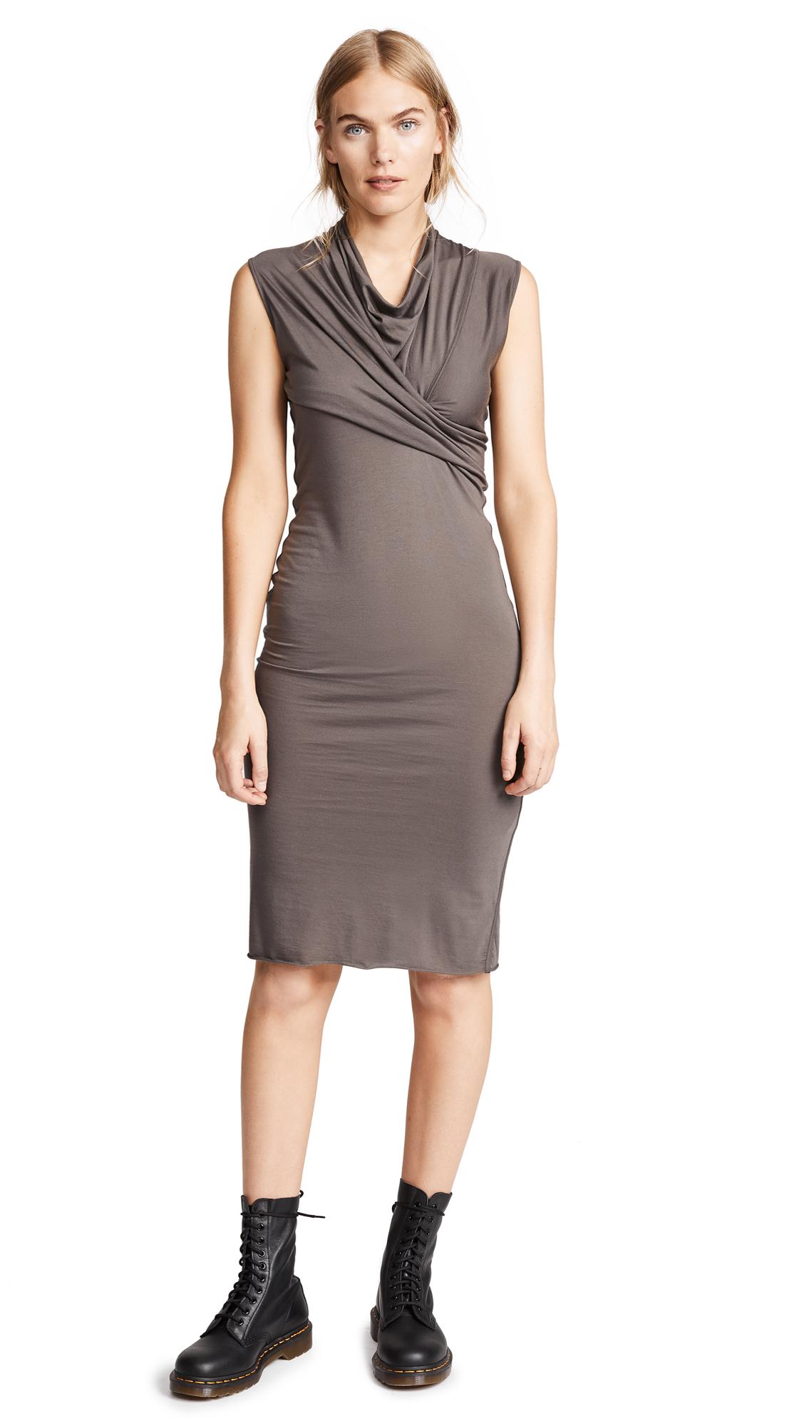 Rick Owens Lilies Drape Sleeveless Dress