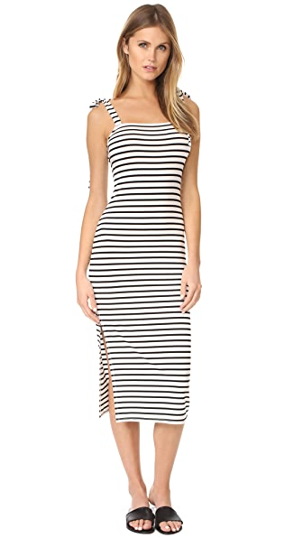 Rachel Pally Roselyn Dress In Black & White Stripe