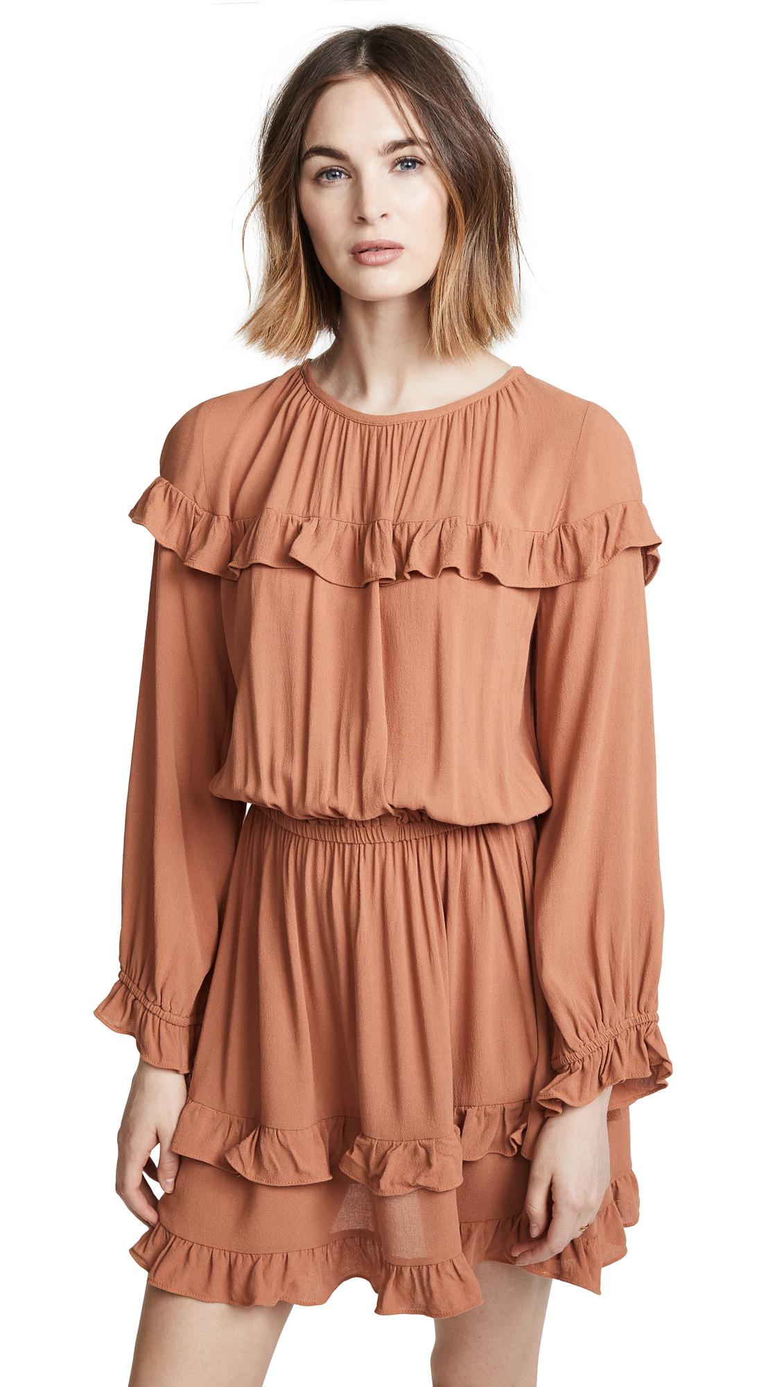 Rachel Pally Crepe Maeve Dress In Terra Cotta