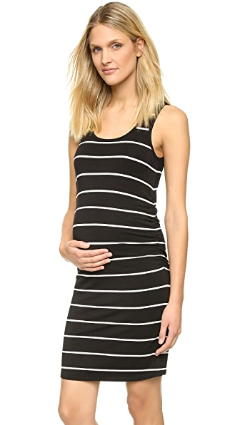 Rosie Pope Kimberly Cinched Maternity Dress - Navy/White Stripe